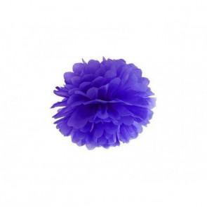 Pompon papier de soie 35cm,  violet