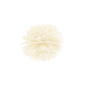 Pompon papier de soie 35cm,  crème