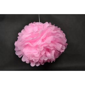 Pompon papier de soie 40cm, rose