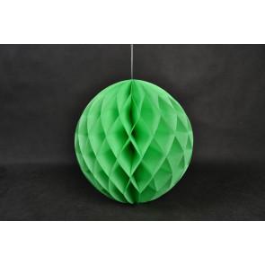 Boule Papier Alvéolée Honeycomb 40cm Verte