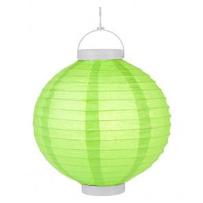 LED Lampion / boule papier 20cm verte