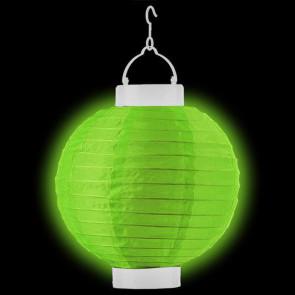 LED Lampion / boule papier 20cm verte + AAA batteries gratuitement