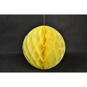 Boule Papier Alvéolée Honeycomb 20cm Jaune