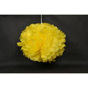 Pompon papier de soie 40cm, jaune