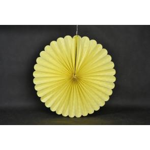 Rosace papier 40cm jaune