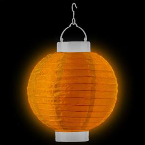 LED Lampion / boule papier 20cm orange + AAA batteries gratuitement