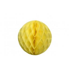 Boule papier alvéolé / honeycomb jaune 20cm